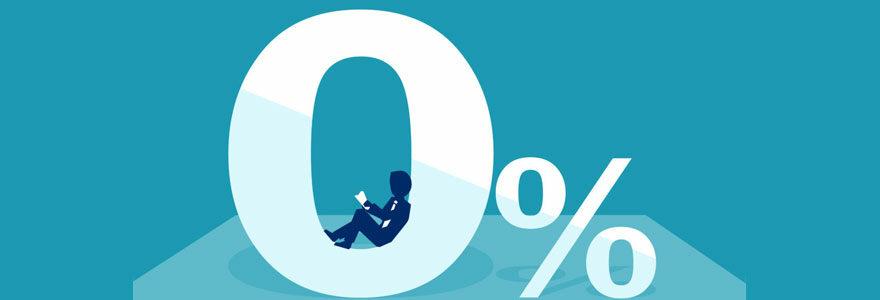 Obtenir un prêt à taux zéro